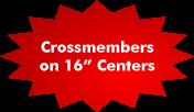 "Crossmembers on 16"" Centers"