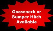 Gooseneck or Bumper Hitch