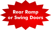 Rear Ramp or Swing Doors