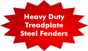 Treadplate Steel Fenders