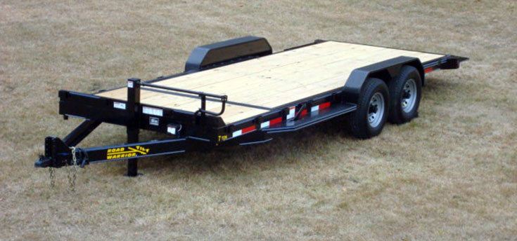 7 Ton Equipment Gravity Tilt Bed Trailer Johnson Trailer Co