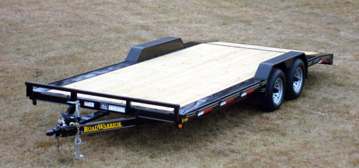 102″ wide car hauler trailer