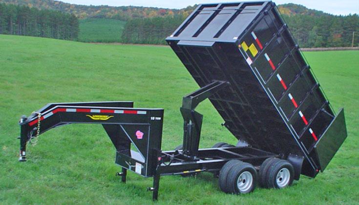 Heavy Gooseneck Hydraulic Dump Trailer Johnson Trailer Co