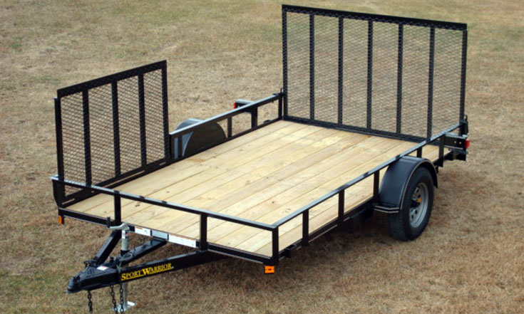 Single Axle w/Side Ramp Utility Trailer