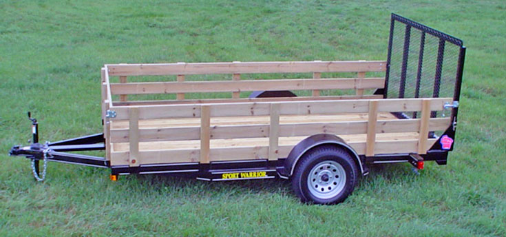 Single Axle Trailer Wood Sides