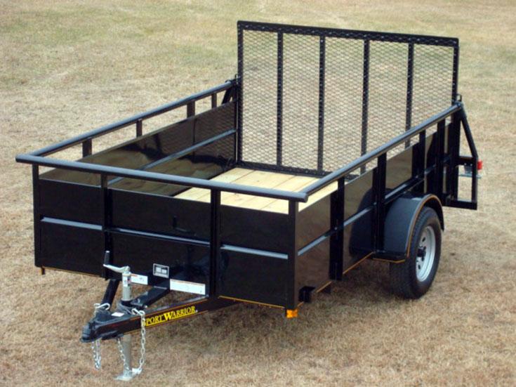 Single Axle Utility Trailer w/Hi-Sides - Johnson Trailer Co.