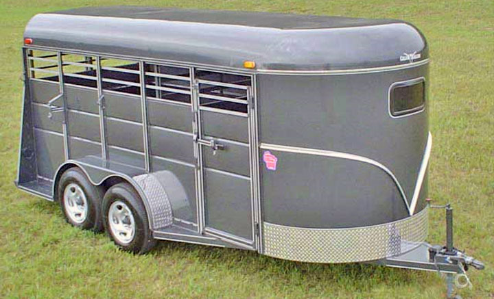 calico stock horse trailers johnson trailer co stock cattle horse trailer
