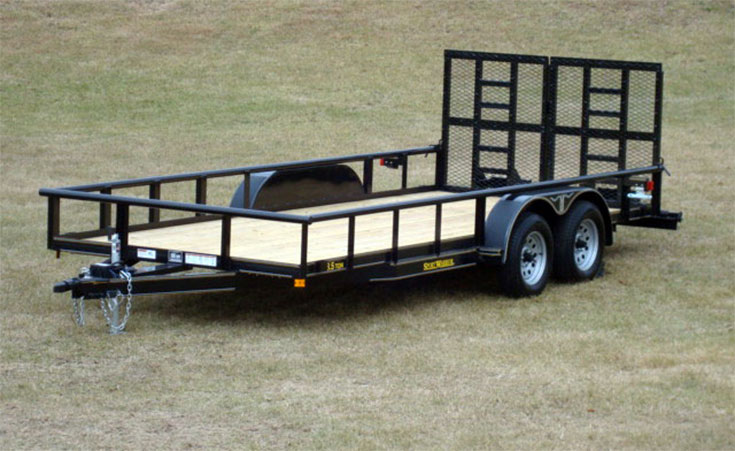 tandem axle utility trailer johnson trailer co rh johnsontrailerco com HH Trailer Wiring Diagram 7-Wire Trailer Wiring Diagram with Brakes