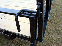 single axle utility trailer w side rails and side ramp. Black Bedroom Furniture Sets. Home Design Ideas