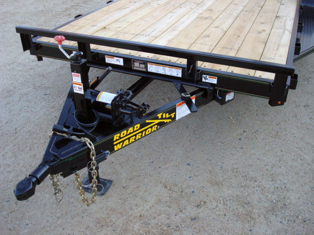 5 ton car equipment tilt bed trailer johnson trailer co