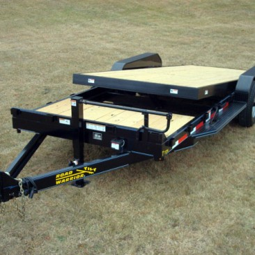 7 ton equipment tilt bed trailer johnson trailer co