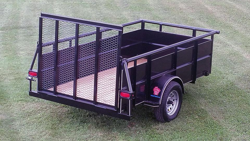 Single Axle Rv : Single axle utility trailer w hi sides johnson co