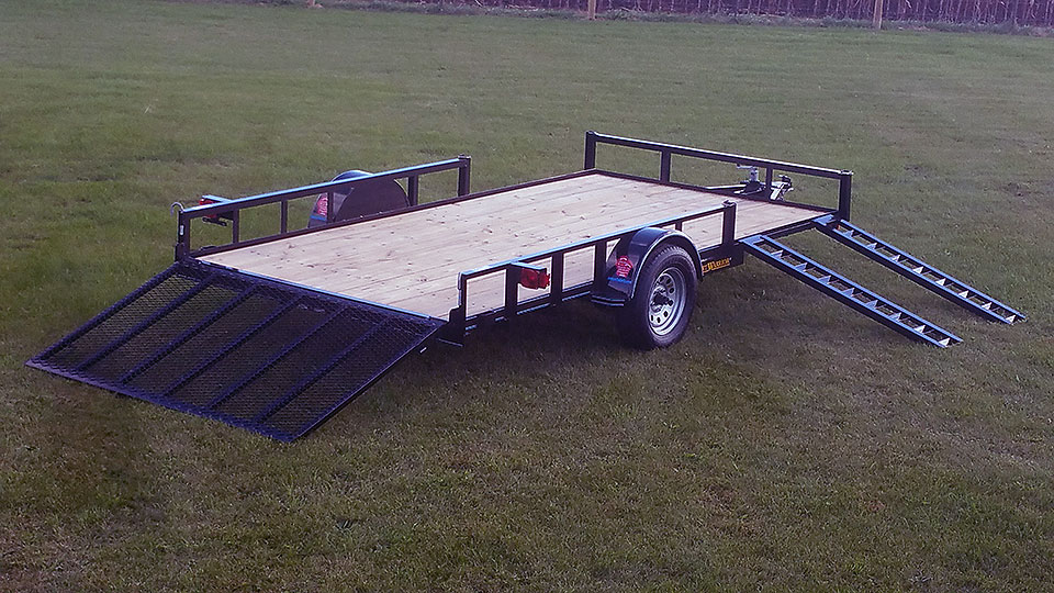 Single Axle Trailer Atv Package on Ramps 1 4 Wiring