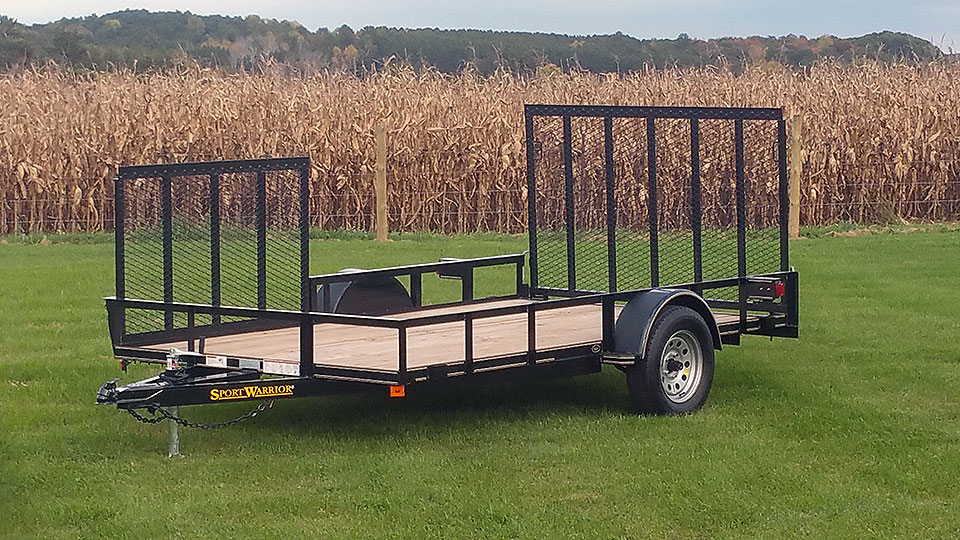 Single Axle Utility Trailer with Side Ramp