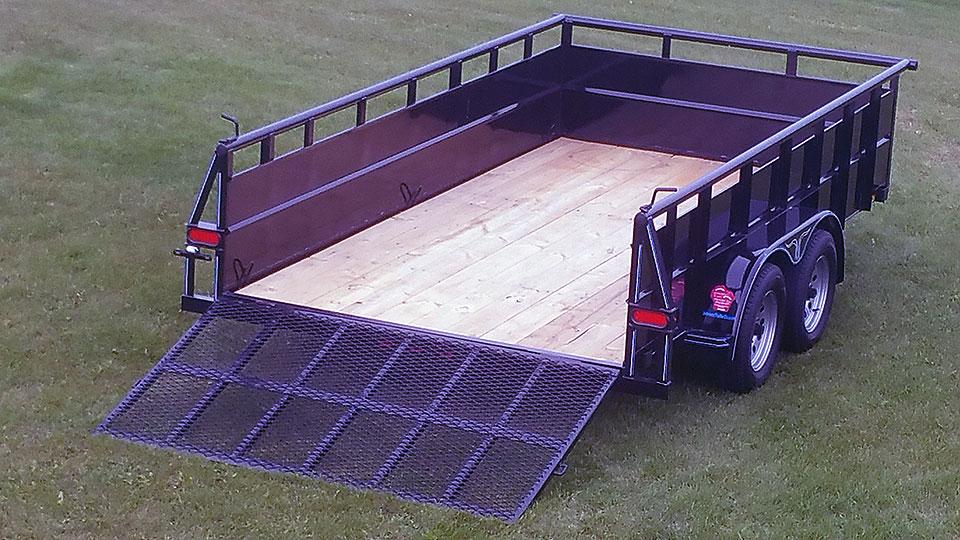 tandem axle hi sides trailer johnson trailer co. Black Bedroom Furniture Sets. Home Design Ideas