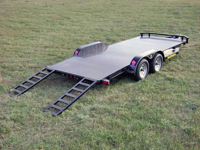 car hauler steel floor 1 steel floor car hauler trailer johnson trailer co Car Hauler Truck at highcare.asia