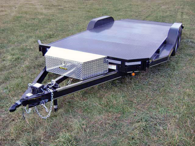 Steel Floor Car Hauler Trailer Johnson Trailer Co