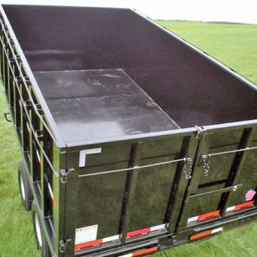 Heavy Gooseneck Hydraulic Dump Trailer