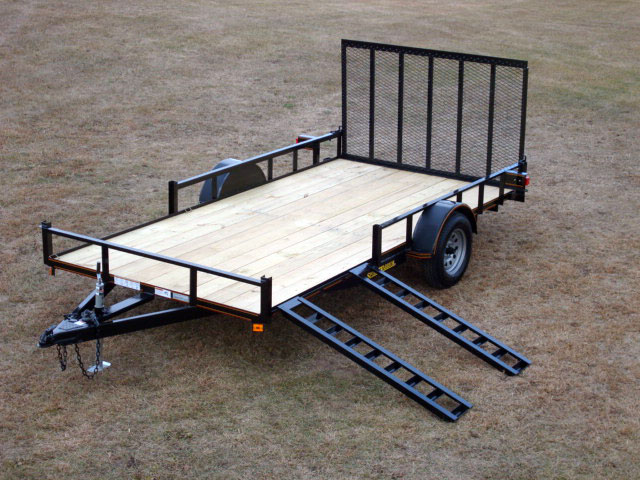 Single Axle Trailer Specs : Single axle utility trailer w atv pkg johnson co
