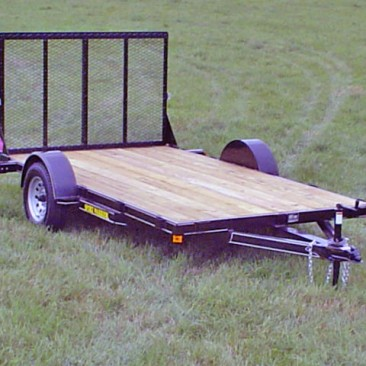 Single Axle Flatbed Utility Trailer