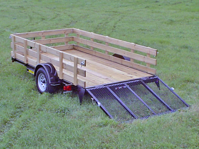 Wood Flatbed Trailer ~ Single axle flatbed utility trailer johnson co