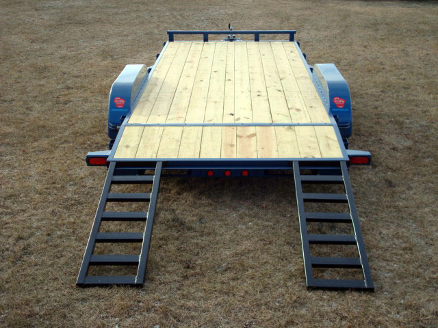 Wood floor car hauler trailer johnson co
