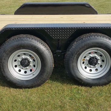 7 Ton Equipment Full Bed Tilt Trailer