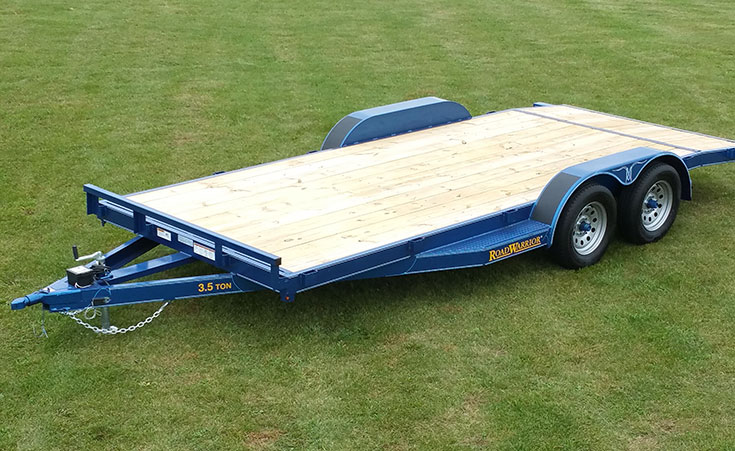 Car Hauler Trailer with Wood Floor