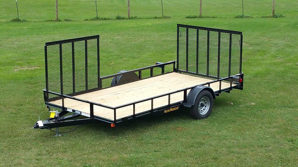 Single Axle Utility Trailer W  Side Ramp Pkg
