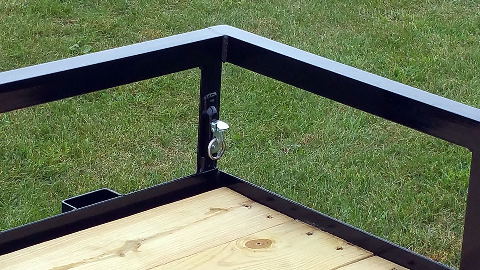 Aluminum Atv Ramps >> Single Axle Utility Trailer w/Side Ramp Pkg - Johnson Trailer Co.