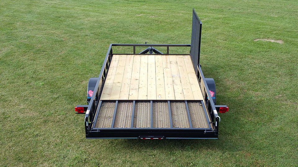 Single Axle Utility Trailer W  Side Ramp Pkg