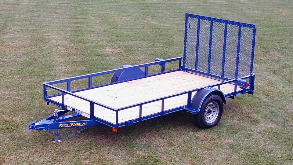 Single Axle Trailer Specs : Single axle trailer w side rails johnson co